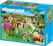 playmobil 5227 paddock with horses and pony perifraxi me aloga kai poylari photo