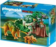 playmobil 5234 explorer and triceraptors with baby exereynitis kai trikeratops me to moro toy photo