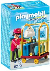 playmobil 5270 porter with baggage cart trole kai aposkeyes photo
