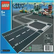 lego city 7280 straight crossroad plates photo