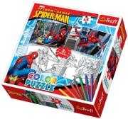 trefl puzzle color spiderman photo