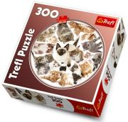 trefl puzzle round 300pcs kittens photo