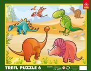 trefl puzzle frame 6pcs dinosaurs photo