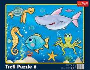 trefl puzzle frame 6pcs in the ocean photo