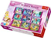 trefl 3x3 story puzzle 30 40 60 pcs princess photo