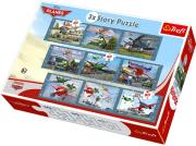 trefl 3x3 story puzzle 30 40 60 pcs planes photo