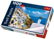trefl puzzle 1500pcs santorini photo