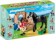 playmobil 5519 alogo black stallion me stablo photo