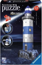 ravensburger pazl 3d coastal lighthouse night edition photo