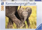 ravensburger pazl 500tem elefantaki photo