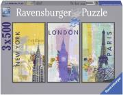 ravensburger pazl 3x500tem taxidi ston kosmo photo