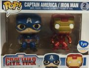 pop marvel civil war captain america iron man 2 pack 2 photo