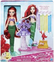 DISNEY PRINCESS DELUXE HAIR PLAY FASHION DOLL ASST ARIEL'S R...