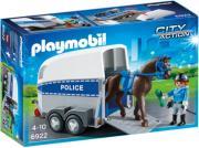 PLAYMOBIL 6922 ΤΡΕΙΛΕΡ ΜΕΤΑΦΟΡΑΣ ΑΛΟΓΟΥ ΑΣΤΥΝΟΜΙΑΣ gadgets   παιχνίδια   playmobil