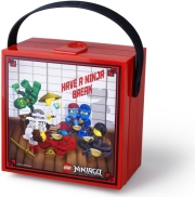 lego lunch box with handle ninjago bright red photo
