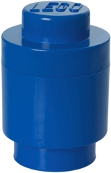 lego storage brick 1 round blue photo