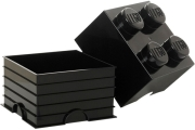 LEGO STORAGE BRICK 4 BLACK gadgets   παιχνίδια   lego