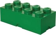 lego storage brick 8 dark green photo