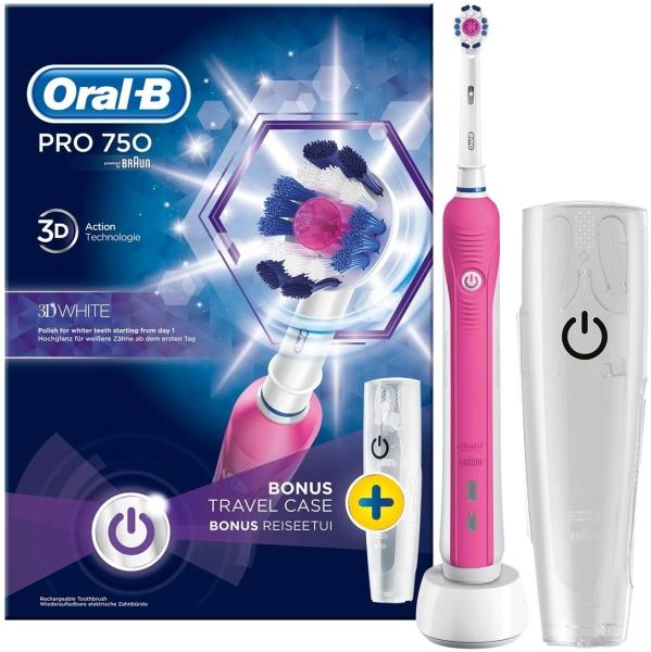 oral b pro 750 pink box 1x1 80286742. Black Bedroom Furniture Sets. Home Design Ideas
