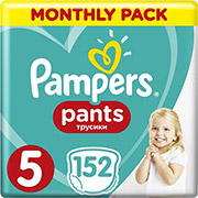 PAMPERS PANTS NO5 (12-17KG) 152 TMX MONTHLY PACK
