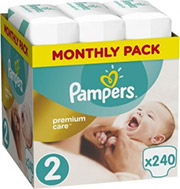 PAMPERS PREMIUM CARE NO2 (4-8KG) 240 TMX MONTHLY PACK