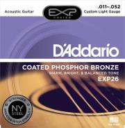 xordes akoystikis kitharas d addario exp26 custom light 11 52 coated phosphor bronze photo
