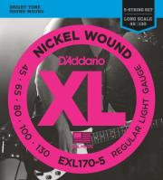 xordes ilektrikoy mpasoy d addario exl170 5 xl series long scale 5 string 45 130 nickel wound