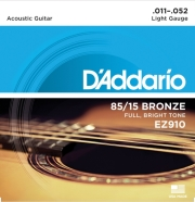 xordes akoystikis kitharas d addario ez910 super light 11 52 85 15 bronze bright tone photo