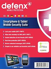 defenx smartphone and tablet security suite 2013 1 user 1 year photo