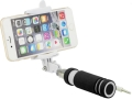 blun mini selfie stick with 35mm cable black extra photo 1