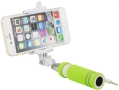 blun mini selfie stick with 35mm cable green extra photo 1