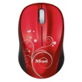 trust 17355 vivy wireless mini mouse red swirls extra photo 1
