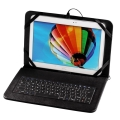 hama 50469 otg black tablet bag 101 with integrated keyboard extra photo 3