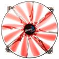 aerocool lightning led fan 200mm red extra photo 1