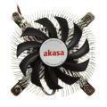 akasa ak cc7129bp01 low profile cpu cooler 74mm extra photo 1