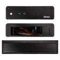 case akasa a itx19 a1b08e euler m fanless mini itx case incl 80w psu black extra photo 1