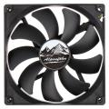 alpenfoehn basic 140 fan 140mm black extra photo 1