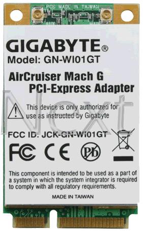 ΑΣΥΡΜΑΤΗ ΚΑΡΤΑ ΔΙΚΤΥΟΥ - GIGABYTE GN-WI01GT AIRCRUISER G MINI-PCI-E ADAPTER