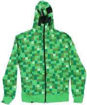 jinx minecraft creeper premium zip up hoodie m photo