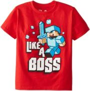 jinx minecraft like a boss youth tee 5 6 years kids photo