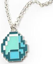 jinx minecraft diamond pendant necklace photo