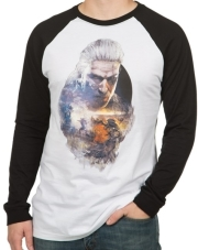 jinx witcher geralt men s raglan l photo