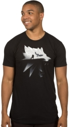 jinx witcher wolf silhouette tee xl photo