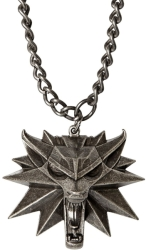 jinx witcher medallion and chain necklace photo