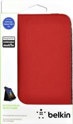BELKIN F8M386CWC02 BI-FOLD WITH STAND FOR SAMSUNG GALAXY TAB 2 7.0 RED υπολογιστές   tablet accessories