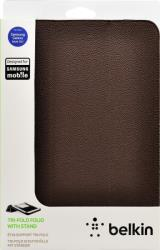 belkin f8m457vfc01 tri fold folio for samsung galaxy note 101 brown photo