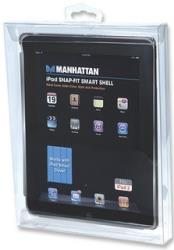 manhattan 450287 ipad snap fit smart shell smoke grey photo