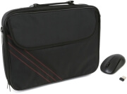 platinet fiesta pto16bg 1600 laptop carry bag with omega wireless mouse omo414wb black photo
