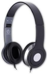 rebeltec city stereo headphones with mic black photo