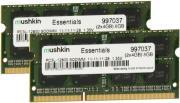 ram mushkin 997037 so dimm 8gb ddr3 1600 dual essentials series photo